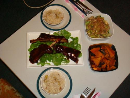 栗ご飯の夕食